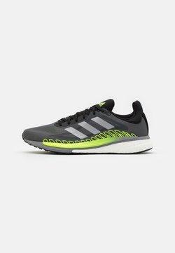 adidas Performance - SOLAR GLIDE BOOST RUNNING SHOES - Zapatillas de running neutras - grey five/silver metallic/signal green
