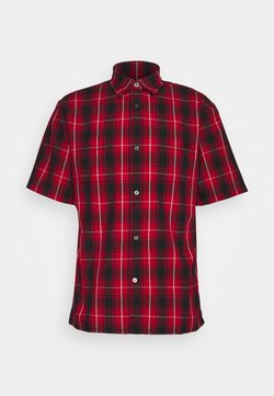 Coach - PLAID SHORT SLEEVE SHIRT - Vapaa-ajan kauluspaita - red