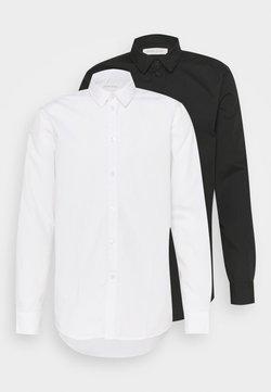Pier One - 2 PACK - Businesshemd - white/black