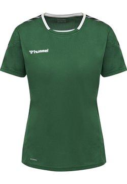 Hummel - HMLAUTHENTIC  - T-shirt print - evergreen