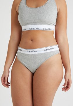 Calvin Klein Underwear - MODERN PLUS THONG - String - grey heather