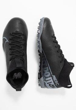 Nike Performance - JR MERCURIAL 7 ACADEMY TF UNISEX - Scarpe da calcetto con tacchetti - black/metallic cool grey/cool grey