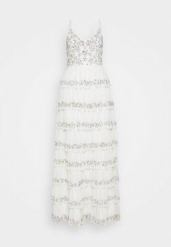 Maya Deluxe - TIERED EMBELLISHED CAMI DRESS - Galajurk - white