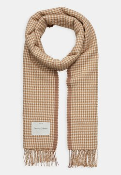 Marc O'Polo - SCARF WOVEN STRUCTURED HOUNDSTOOT - Szal - beige