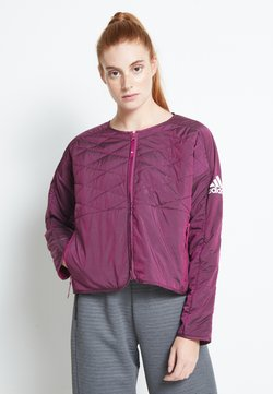 adidas Performance - PADDED - Laufjacke - berry