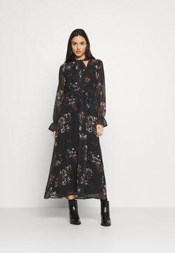 NU-IN - SLEEVE MAXI DRESS - Maxikleid - black