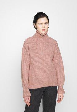 YAS - YASPHANA ZIP - Sweter - blush