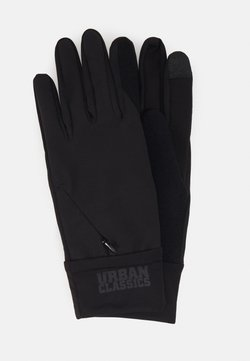 Urban Classics - PERFORMANCE GLOVES LOGO CUFF - Fingerhandschuh - black