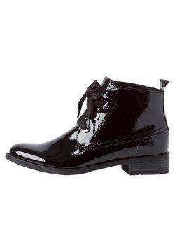 Marco Tozzi - Bottines à lacets - black patent