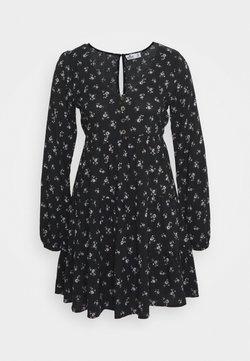 Hollister Co. - PRINT SHORT DRESS - Freizeitkleid - black ground
