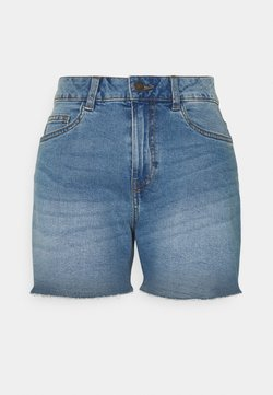 Noisy May - NMKATY SLIM MOM - Shorts di jeans - medium blue denim