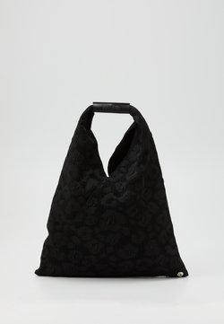 MM6 Maison Margiela - LEOPARD GIAPPONESE SMALL - Torba na zakupy - black