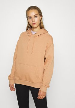 Even&Odd - BASIC OVERSIZED HOODIE WITH POCKET - Sweat à capuche - light tan