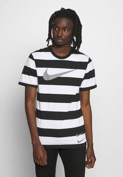 Nike Sportswear - STRIPE TEE - T-Shirt print - white/black