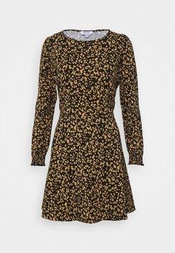 Dorothy Perkins Petite - PETITESANIMAL FIT & FLARE DRESS - Jerseykleid - black