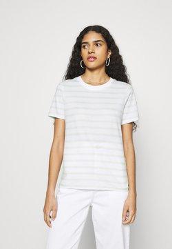 Zign - T-Shirt print - white/light green