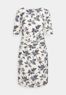 Lauren Ralph Lauren - PRINTED MATTE DRESS - Etui-jurk - lemon ivory