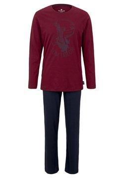 TOM TAILOR - O-NECK - Pyjama - red-dark-solid