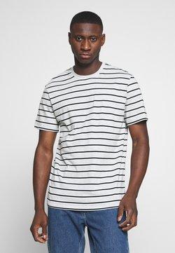 Only & Sons - ONSMEL LIFE STRIPE TEE - T-Shirt print - light grey