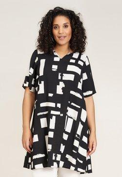 Studio - Korte jurk - black white patterned