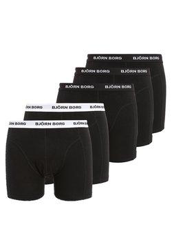 Björn Borg - SOLIDS 5 PACK - Panties - black