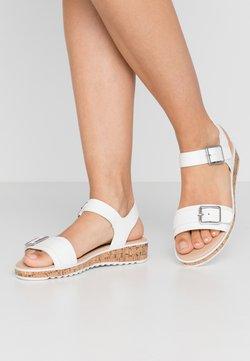 Dorothy Perkins - COMFORT FELIX FLATFORM  - Korkeakorkoiset sandaalit - white