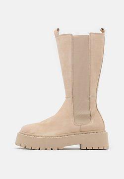 Zign - LEATHER - Platform boots - nude