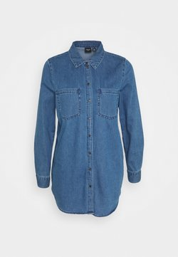 Vero Moda - VMMILA LONG - Skjorta - medium blue denim