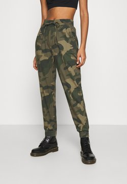 Hollister Co. - DRAPEY - Trousers - olive