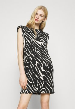 Monki - ALVINA SHOULDER DRESS - T-Shirt basic - zebra