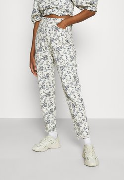 Missguided - FLORAL RIOT - Jeans Relaxed Fit - white