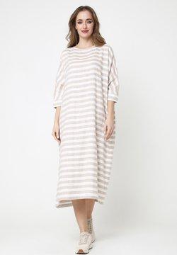 Madam-T - Jerseykleid - beige, weiß