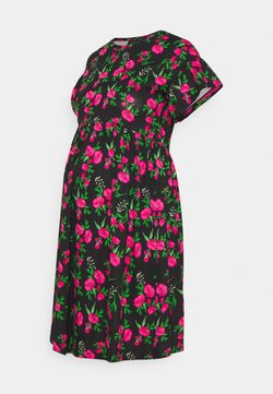 ONLY - OLMMAY NEW LIFE  CUTLINE DRESS - Vestido ligero - black/hot pink