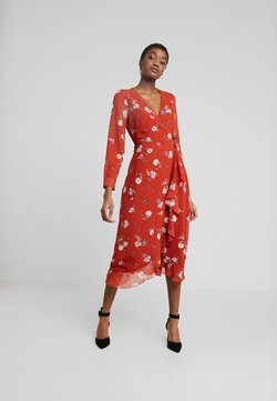 Wednesday's Girl - WRAP MIDAXI - Sukienka letnia - delphine floral rust