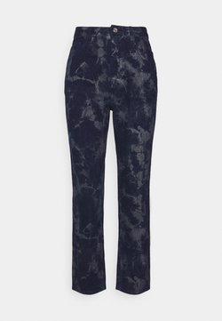 Missguided Petite - TIE DYE WRATH - Tracksuit bottoms - navy