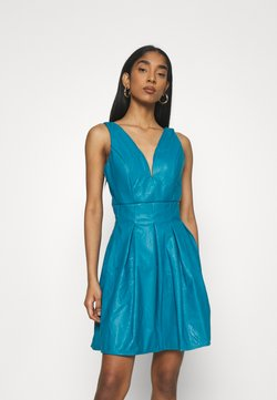 WAL G. - PLEATED SKATER DRESS - Freizeitkleid - teal blue