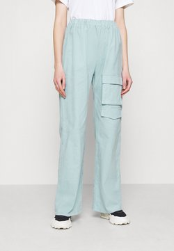 Missguided - WIDE LEG UTILITY TROUSERS - Trousers - dusky blue