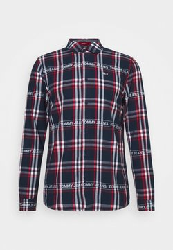 Tommy Jeans - Camisa - dark blue/white/red