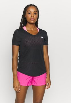 Nike Performance - BREATHE - T-shirt con stampa - black/silver