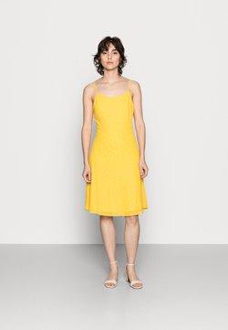 Anna Field - STRAPPA FIT AND FLARE - Freizeitkleid - yellow, white