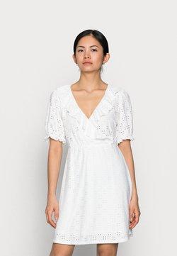 VILA PETITE - VITRESSY WRAP DRESS - Jerseykjole - cloud dancer
