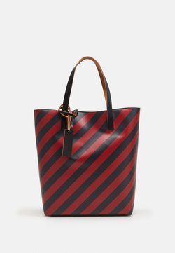 Marni - UNISEX - Shopping Bag - mosstone/raspberry/black