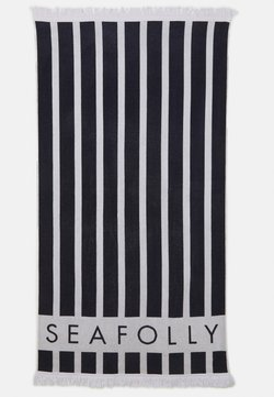 Seafolly - FRINGE BENEFITS SUNLIGHT STRIPE TOWEL - Strandaccessoire - true navy