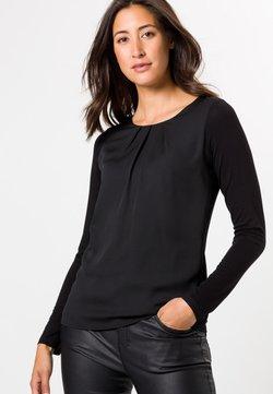 zero - MIT RUNDHALSAUSSCHNITT - Bluse - black