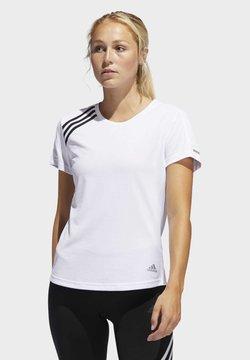 adidas Performance - 3-STRIPES RUN T-SHIRT - T-Shirt print - white