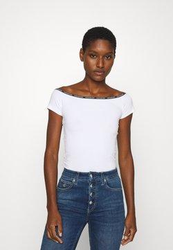 Calvin Klein Jeans - LOGO TRIM BARDOT - T-Shirt print - bright white