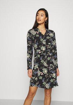Vero Moda - VMSAGA V-NECK DRESS - Blusenkleid - black/cassandra