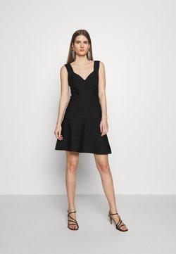 Hervé Léger - ICON FLARE SKIRT DRESS - Cocktailkleid/festliches Kleid - black