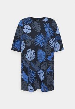 Shine Original - PALM O NECK TEE - T-shirt imprimé - navy