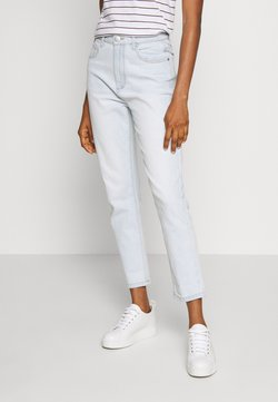 Cotton On - STRETCH MOM - Relaxed fit jeans - blurstone light blue rips